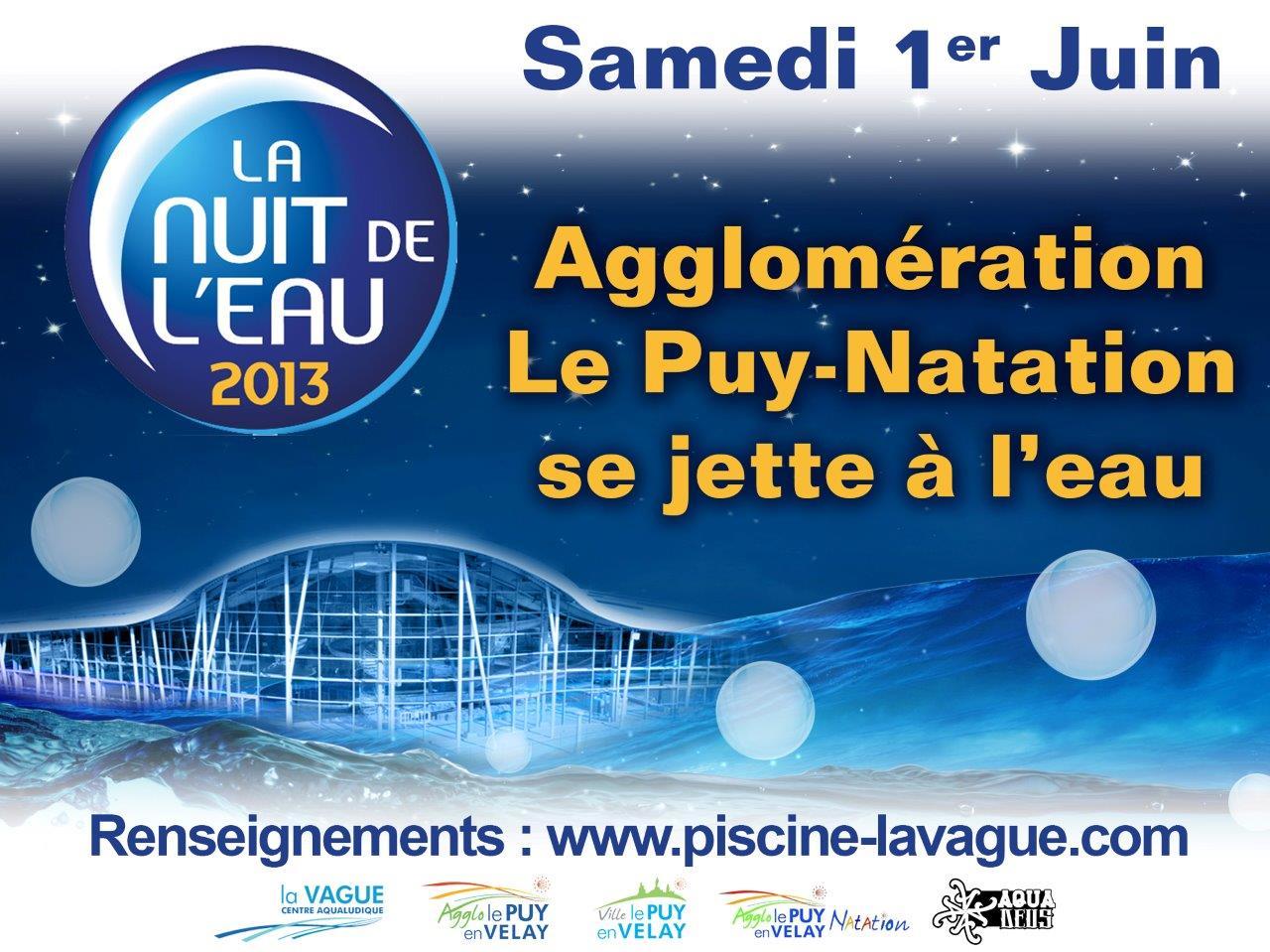 Une belle soir e la vague site officiel de la mairie for Piscine la vague le puy en velay