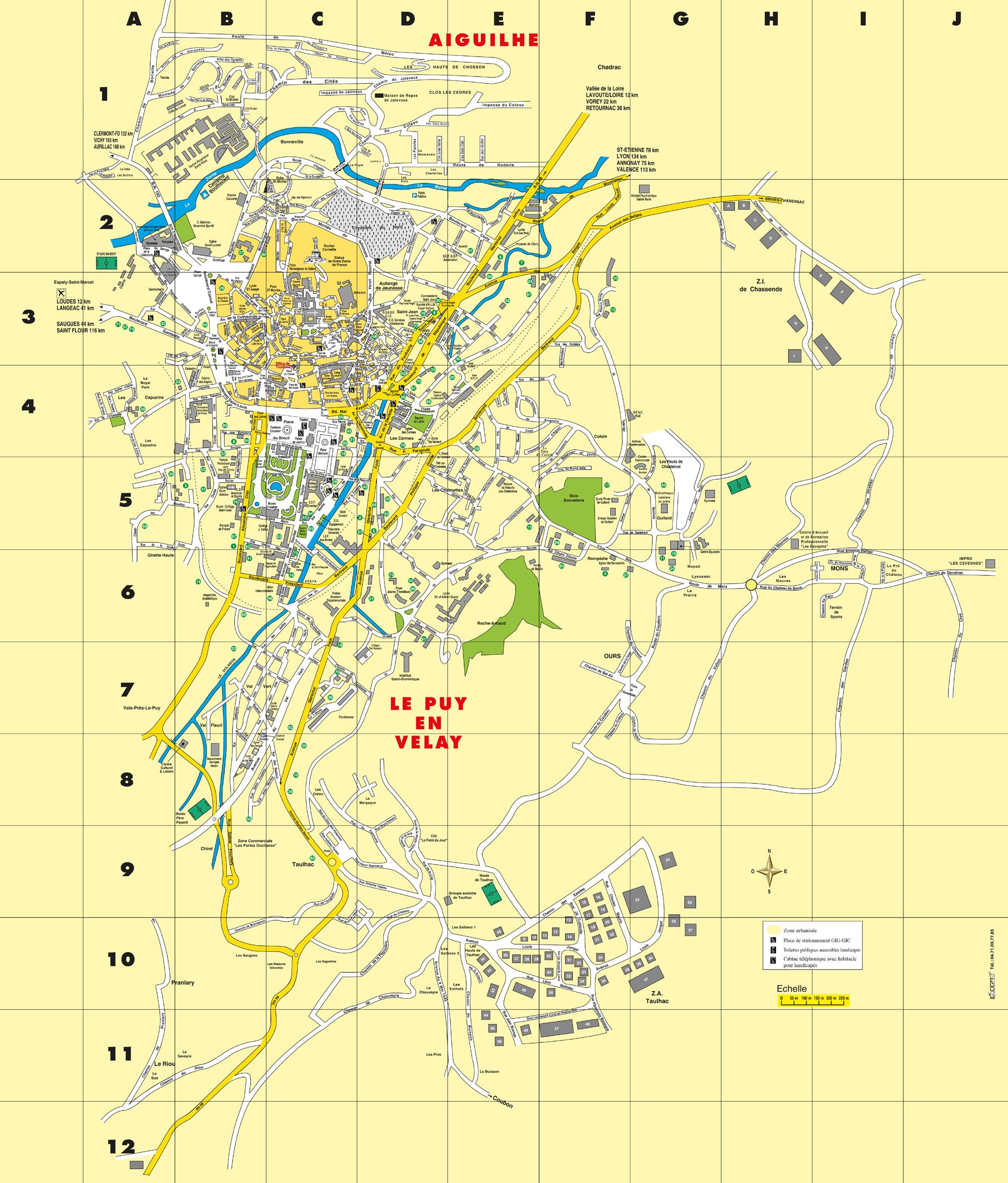 Plan Centre Ville Le Puy En Velay